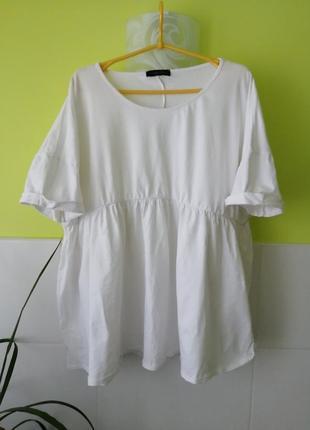 Оверсайз футболка туника с оборками missguided
