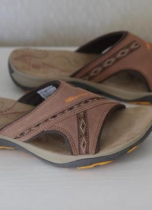Кожаные треккинговые сандалии шлепанцы karrimor