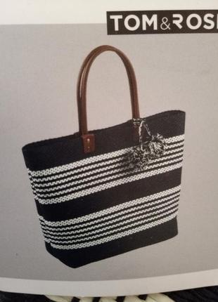 Обьемная пляжная сумка tom end rose