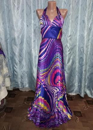 Не пропустите!!! шикарный атласный сарафан-платье в пол