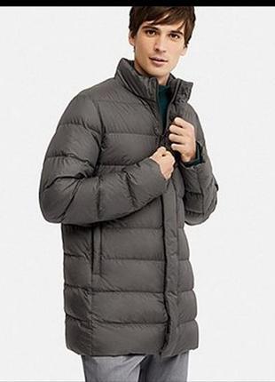 Удлиненная куртка пуховик uniqlo
