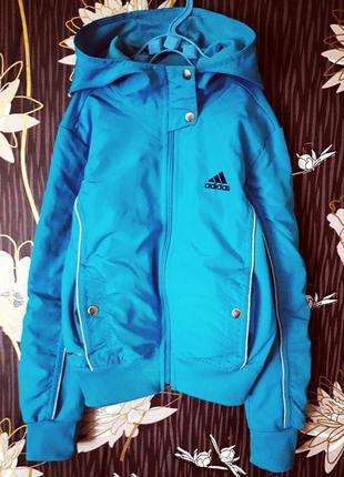 Оригинальная/спортивная олимпийка/ветровка с капюшоном adidas clima cool stella mccartney.