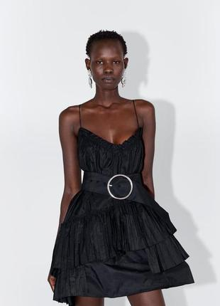 Zara новая коллекция! платье с ремнём