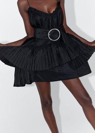 Zara новая коллекция! мини платье с ассиметричным подолом3 фото