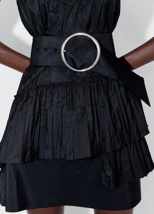 Zara новая коллекция! мини платье с ассиметричным подолом4 фото