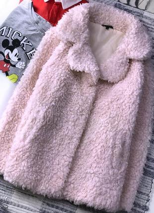 Пудровая искусственная шуба candy couture1 фото