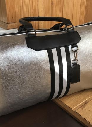 Дорожная сумка из кожи pu, можно для фитнеса спорта