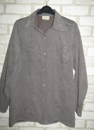 Серая рубашка р-р 38-12 бренд cecilia