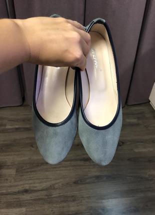 Балетки замшевые. туфли на низком ходу. туфли без каблука.