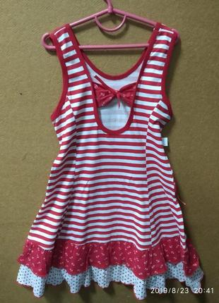 Платье красное морячка