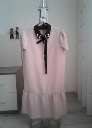 Новое нежно-розовое платье mango
