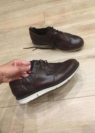 Чоловічі туфлі з натуральної шкіри від denim!!