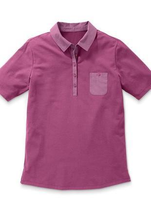 Xлопковая футболка-поло tchibo, германия
