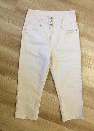 Капри джинсовые белые💋💋262