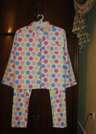 Пижама secret possessions, 100% хлопок-байка, размер 12-14, новая с этикеткой