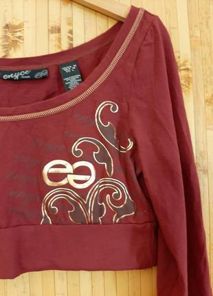 Терракотовый укороченный топ лонгслив футболка кирпичного цвета