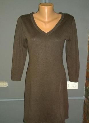 Платье из джерси h&m трендового оливкового оттенка