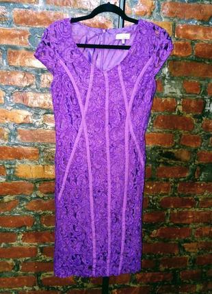 Облегающее кружевное платье футляр marks & spenser