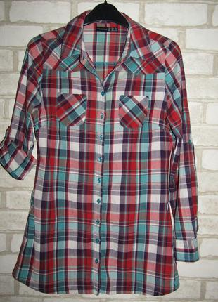 Рубашка в клетку р-р s бренд atmosphere