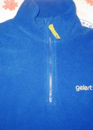 Флисовый реглан синего цвета gelert р.11-12 лет рост 146-152