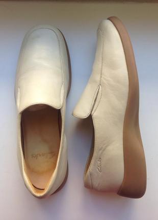 Clarks жіночі мокасини, туфлі/ женские кожаные туфли, мокасины, топсайдеры