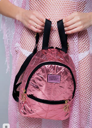 В наличии модный золотисто-розовый рюкзак виктория сикрет из кожи пу (pu)