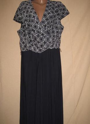 Длинное платье viyella р-р20,