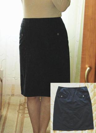 Юбка черная gerry weber летняя 97% хлопок подкладка легкая летняя