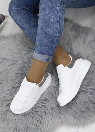 Новые шикарные женские белые кроссовки6 фото
