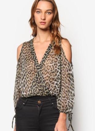 Леопардовый боди / на размер м