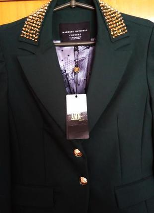 Amn фирменный турецкий стрейчевый стильный пиджак amnesia с шипами