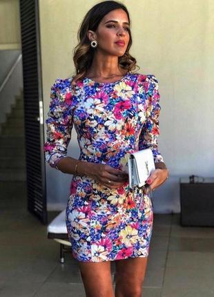 Zara новая коллекция ! платье с объемными рукавами