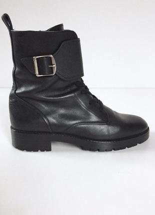 Massimo dutti трендовые кожаные ботинки на шнуровке