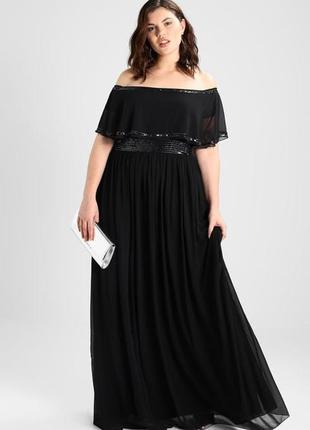 Роскошное вечернее платье с изящно оголенными плечами5 фото