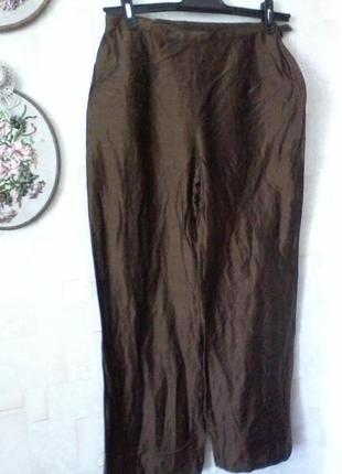 Шелковые брюки кюлоты с высокой посадкой, шелк тайский, разм. 46