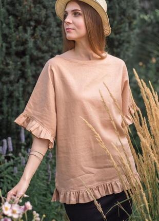Блузка из льна в стиле бохо
