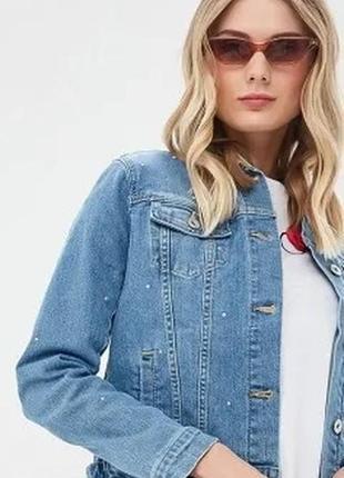 Куртка джинсовая со стразами новая