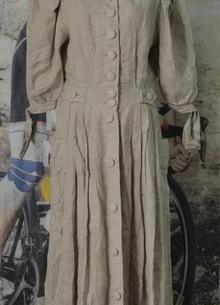 Льняное платье, платье лён lodenfrey linen dress vintage