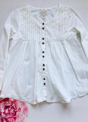 I love next  стильная батистовая  блузка на девочку 8 лет