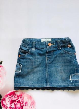 Matalan стильная джинсовая юбка на девочку  3-4 года