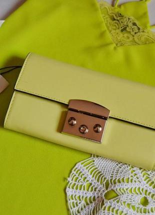 Bershka гаманець лимонного кольору