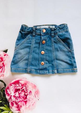 Denim   стильная джинсовая юбка на девочку 2-3 года