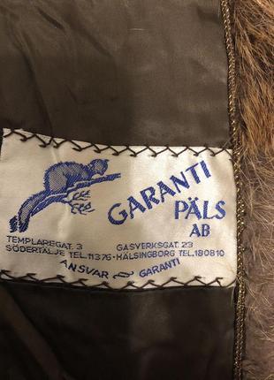 Винтажное пальто с бобра, шуба бобровая коричневая длинная швеция5 фото