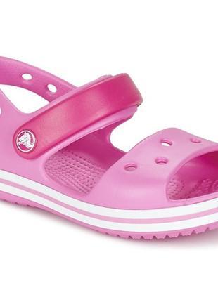 Детские босоножки сандалии crocs j2 crocband, оригинал для девочки