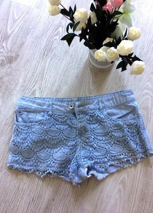 Голубі короткі джинсові шорти denim co