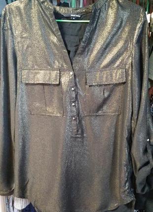 Стильная асимметричная рубашка с напылением