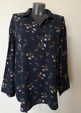 Красивая,стильная,просторная рубашка в стиле бохо, c заниженной спинкой