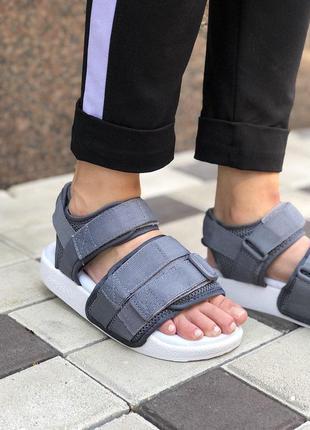 Рженские сандалии/ босоножки adidas adilette sandal grey 😍 {лето}