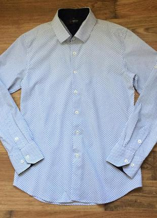 Рубашка с длинным рукавом белого цвета с принтом