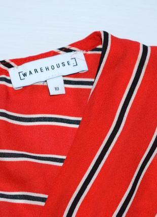 Червоне плаття міді в смужку9 фото